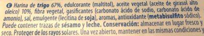 Maria 0% azúcares - Ingredientes