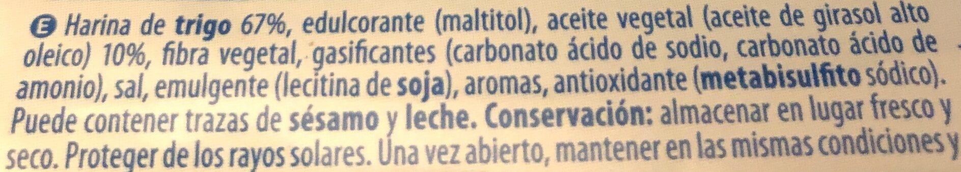Maria 0% azúcares - Ingredientes - es