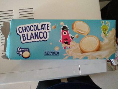 Galleta Rellena De Crema Y Recubierta De Chocolate Blanco - Producto