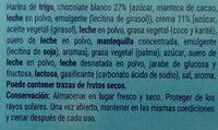 Galleta Rellena De Crema Y Recubierta De Chocolate Blanco - Ingredientes