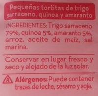 Triángulos de trigo sarraceno - Ingredientes
