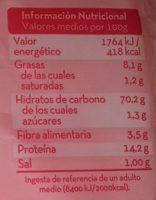 Triángulos de trigo sarraceno - Información nutricional