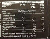 Crujientes con chocolate y avena - Informació nutricional - es