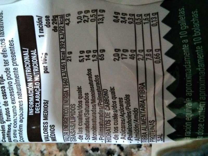 Galleta Sin Azúcares Añadidos Con Edulcorante - Nutrition facts