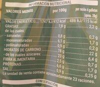 Galleta hojaldrada - Valori nutrizionali - es