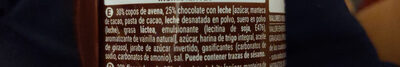 Digestive avena chocolate - Ingredientes - es