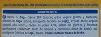 Caocream - Ingredientes - es