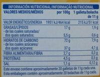 Galletas rellenas de crema Caocream - Información nutricional