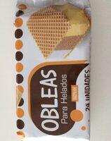 Obleas para helados - Ingrediënten - es