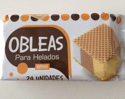 Obleas para helados - Ingrediënten