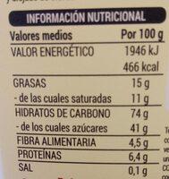 Turbitos bañados - Informació nutricional