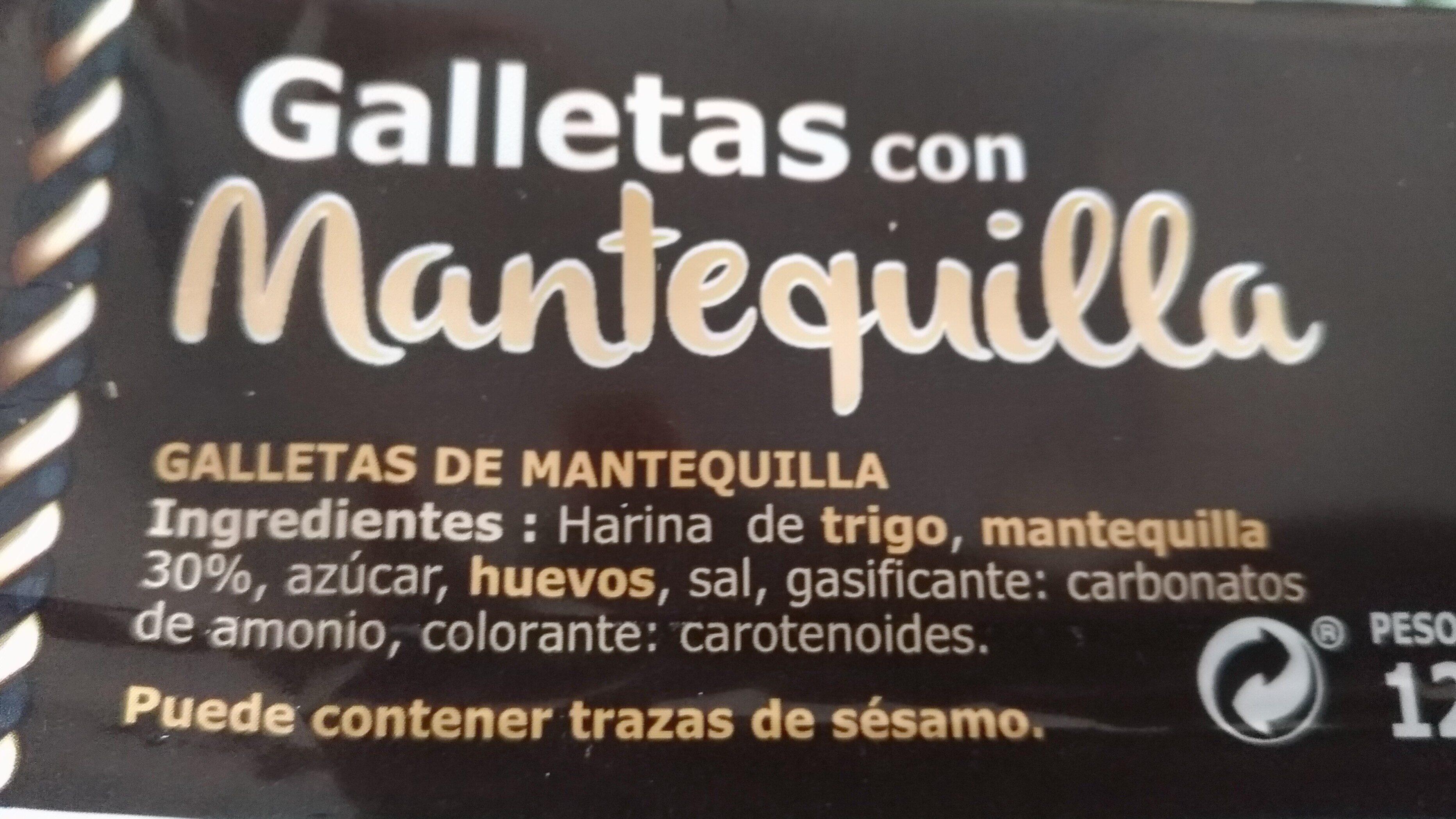 Galletas con mantequilla - Ingredientes
