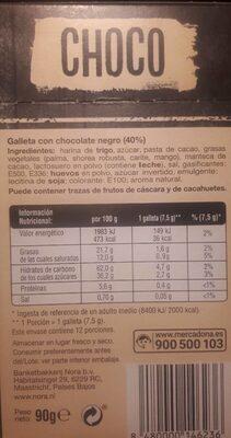 Chocks - Nutrition facts - es