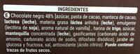 Choco negro - Ingredients - es