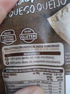 Snack de queso 100% crujiente - Ingredientes