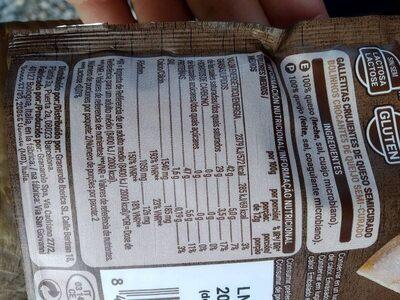 Snack de queso 100% crujiente - Información nutricional