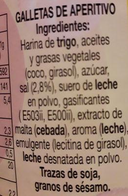 Galletitas saladas - Ingredientes