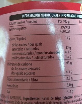 Cocktail - Informations nutritionnelles