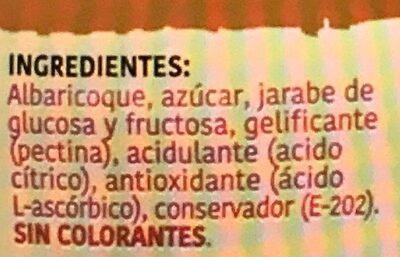 Mermelada De Albaricoque Extra - Ingredienti - es