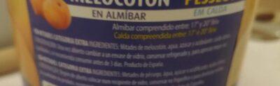 Melocoton en almíbar - Ingredientes