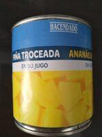 Piña troceada en su jugo - Produit