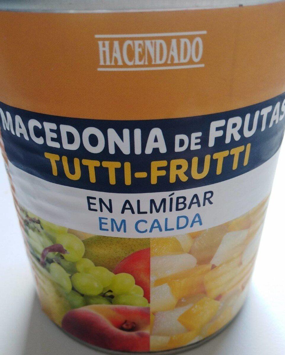 Macedonia de frutas en almíbar - Producte