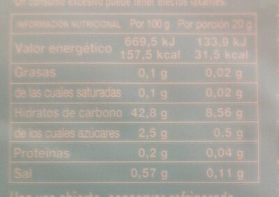 Dulce de membrillo sin azúcares añadidos - Informations nutritionnelles - es