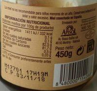 Miel de castaño y brezo - Voedingswaarden - es