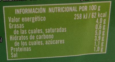 Tomate para untar con aceite de oliva - Nutrition facts