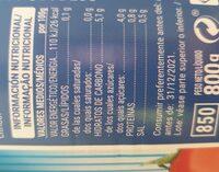 Tomate triturado - Informations nutritionnelles
