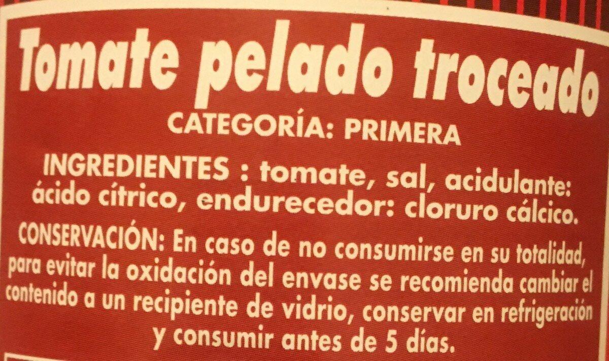 Tomate pelado troceado - Ingredientes - es
