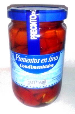Pimientos en tiras condimentados - Producto