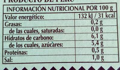 Pimientos rojos asados en tiras - Informations nutritionnelles - es