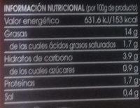 Alcachofas corazones en mitades - Información nutricional