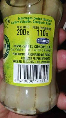 Espárragos - Ingredientes - es