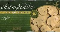 """Champiñones laminados en conserva """"Hacendado"""" Pack de 3 - Producto"""