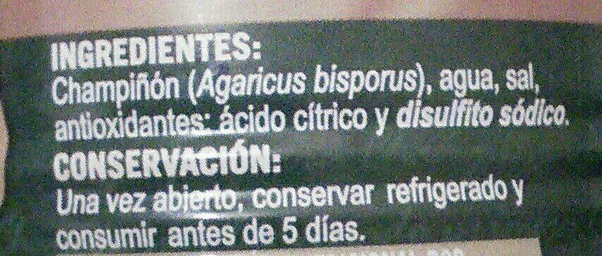 Champiñon - Ingredientes