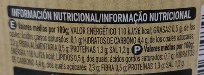 Brotes Germinados de soja - Información nutricional - es