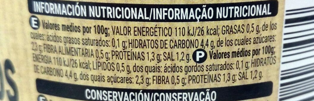 Brotes germinados - Voedingswaarden - es