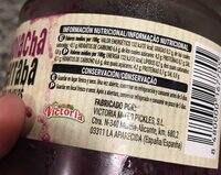 Remolacha rodajas - Informations nutritionnelles - es