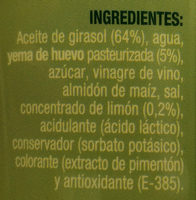 Mayonesa - Ingredients - es