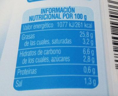 Salsa ligera - Informació nutricional - es