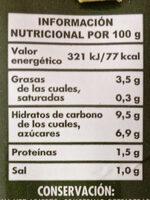 Tomate frito con aceite de oliva - Informació nutricional - es