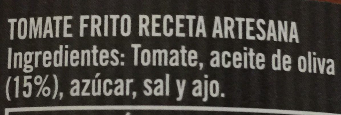 Tomate frito receta artesana - Ingredients