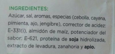 Sazonador Fajitas - Ingredientes - es