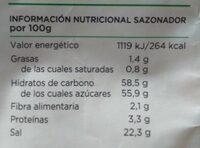Sazonador Fajitas - Información nutricional - es