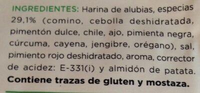 Sazonador para burritos sabor tex mex - Ingredients - es