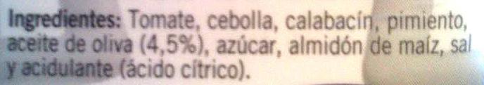 Fritada - Ingredients - es