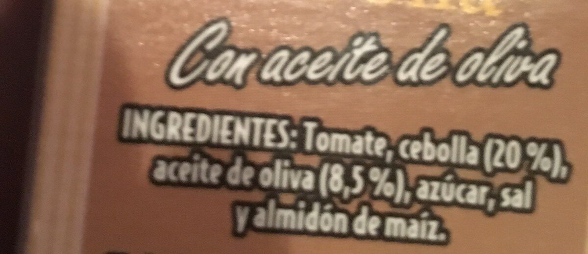 Tomate frito con cebolla - Ingredients