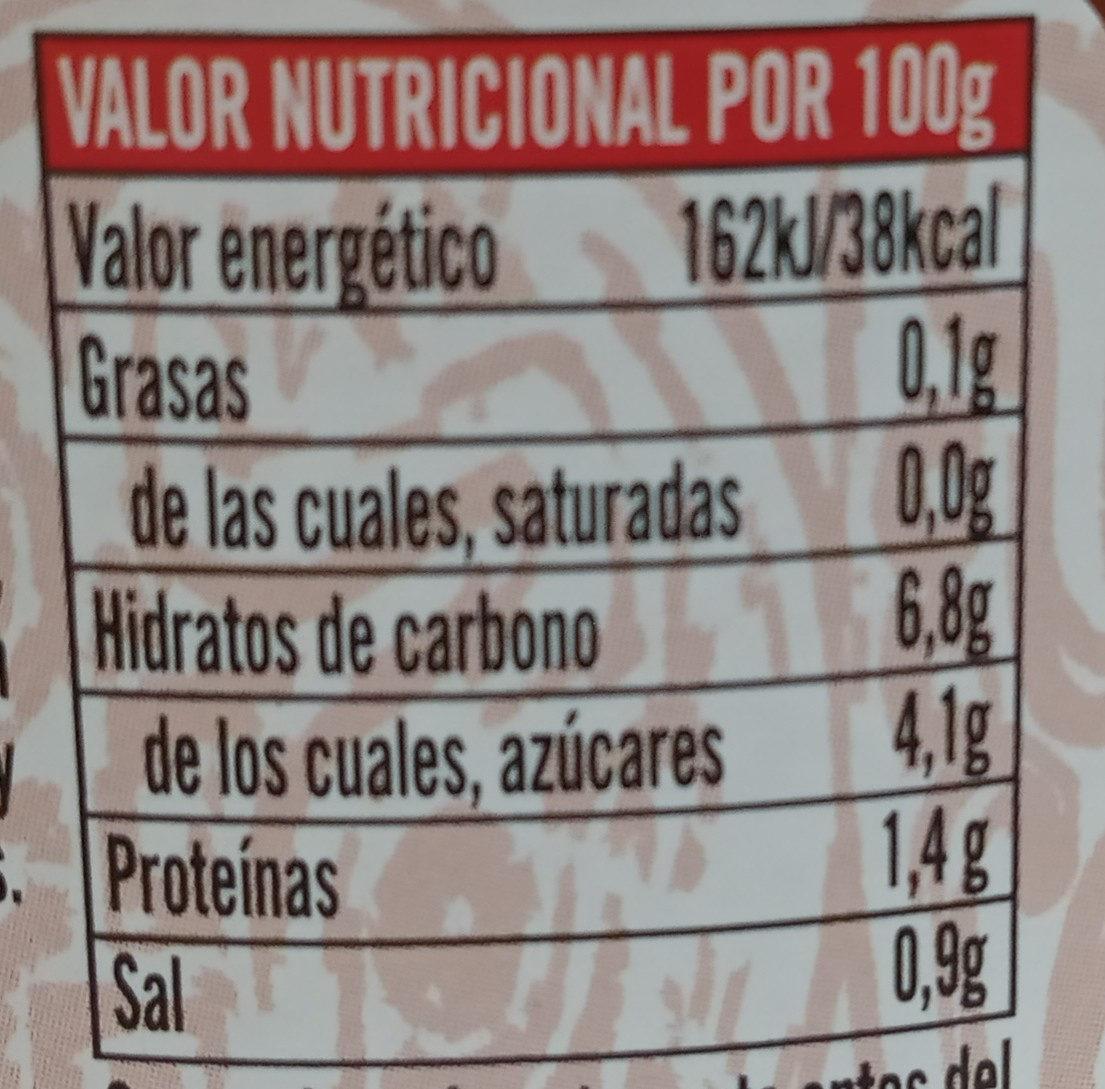 Salsa mexicana suave - Informations nutritionnelles
